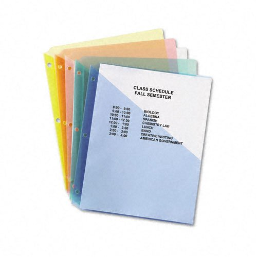 Avery Poly Binder Pockets Assorted 5pk (AVE-75254)