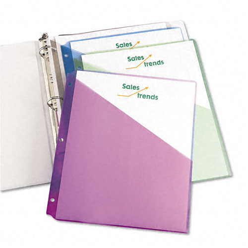 New Avery Poly Binder Pockets Assorted (5pk)