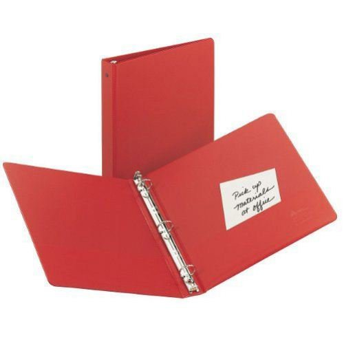 Avery Red Economy Round Ring Binders (12pk) (AVEERRBRD) Image 1
