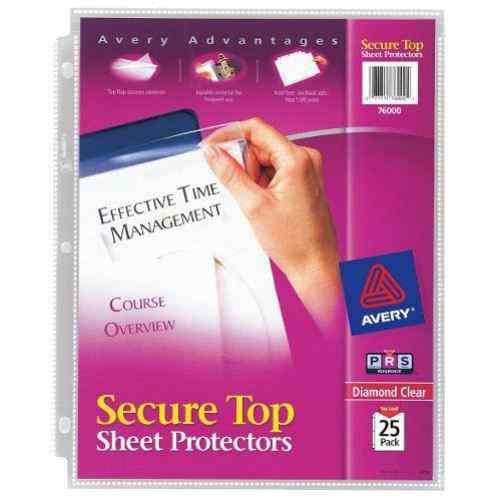 Binder Sheet Protectors with Flaps Image 1