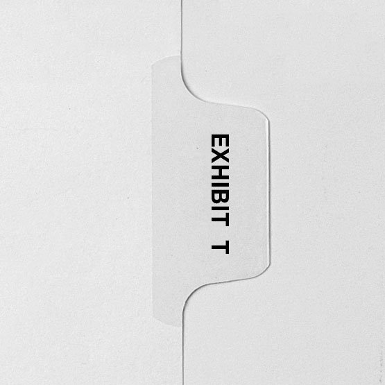 EXHIBIT T - Avery Style Letter Size Side Tab Legal Indexes - 25pk (HCM28770) Image 1