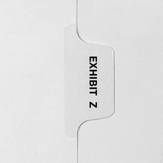 EXHIBIT Z - Avery Style Letter Size Side Tab Legal Indexes - 25pk (HCM28776) Image 1