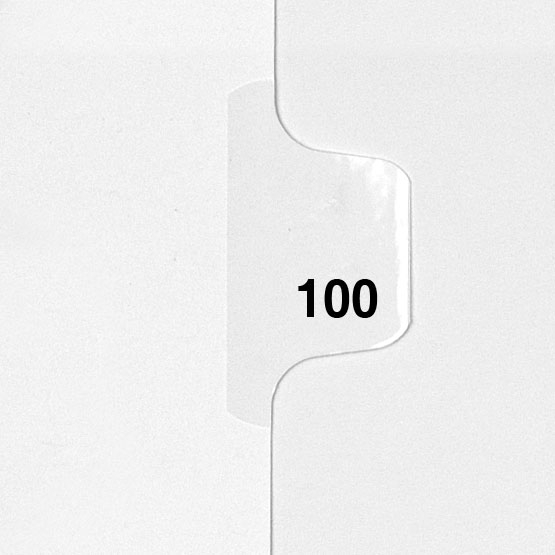 100 - Avery Style Single Number Letter Size Side Tab Legal Indexes - 25pk (HCM80100), Index Dividers Image 1