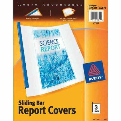 Avery Sliding Bar Report Covers Clear Cover Assorted Bars (AVE-SBASSRCCL), Report Covers Image 1