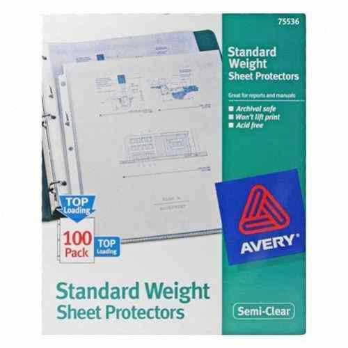 Standard Weight Sheet Protectors Image 1