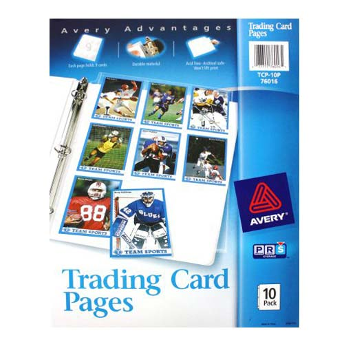 Avery Trading Card Pages 10pk (AVE-76016) Image 1