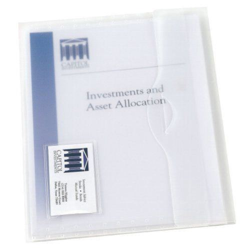 Avery Translucent Document Wallet Clear 1pk (AVE-72278) Image 1