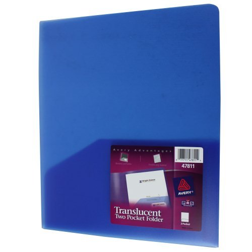 Blue Avery Pocket Folders Image 1