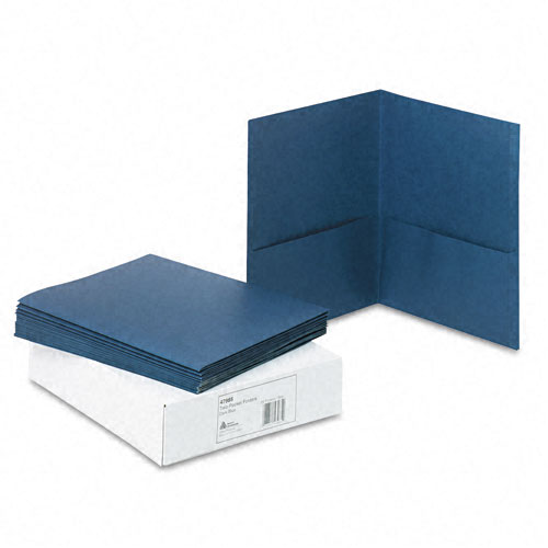 Avery Dark Blue Two-Pocket Folder 25pk (AVE-47985)