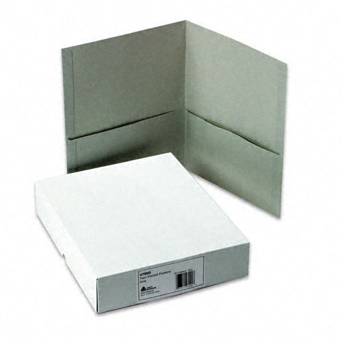 Avery Gray Two-Pocket Folder 25pk (AVE-47990) Image 1