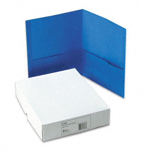 Avery Light Blue Two-Pocket Folder 25pk (AVE-47986)