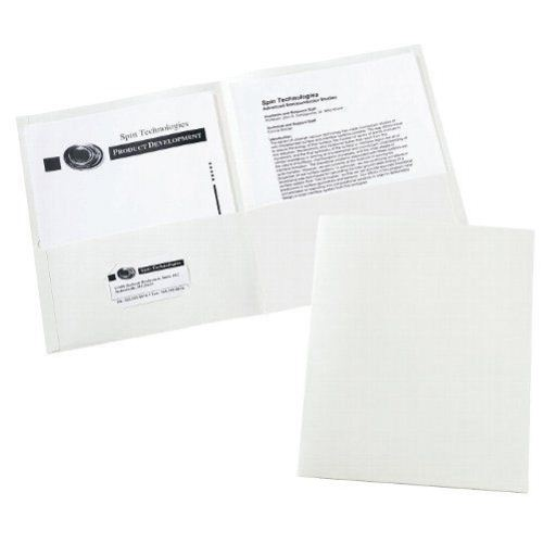 Avery White Two-Pocket Folder 25pk (AVE-47991)