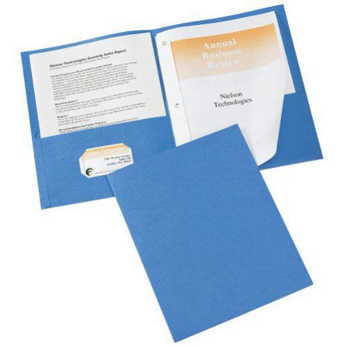 Avery Two Pocket Folder with Fasteners Light Blue 25pk (AVE-47976) Image 1