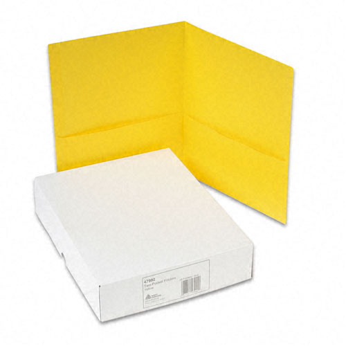 Avery Yellow Two-Pocket Folder 25pk (AVE-47992)