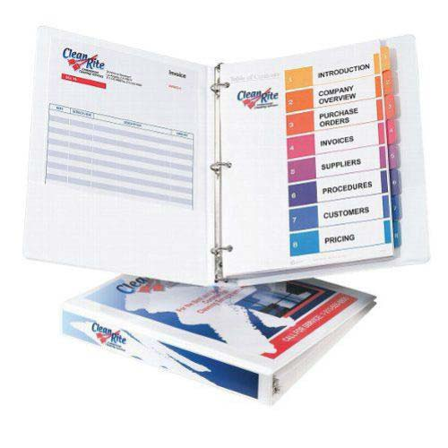 Avery White Economy View Round Ring Binders (AVEEVRRBWH) Image 1