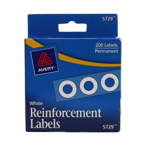 Avery White Self-Adhesive Hole Reinforcements (AVESAHRWH) - $1.53 Image 1