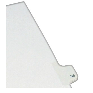 Avery 36 Individual Number Legal Index Allstate Style Dividers 25pk (AVE-82234) Image 1
