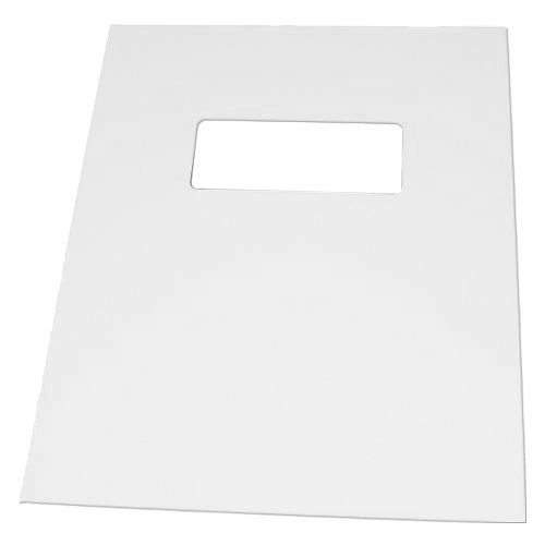 "Neenah Paper Avon Brilliant White Classic Laid 8.5"" x 11"" Covers w Windows - 50 Sets (MYCLC8.5X11ABW80W) Image 1"