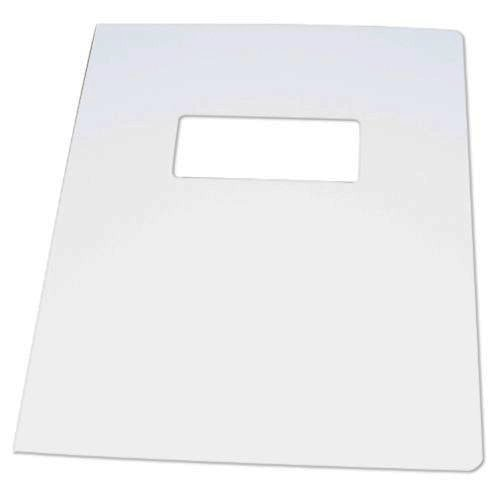 "Neenah Paper Avon Brilliant White Classic Laid 8.75"" x 11.25"" With Windows - 50 Sets (MYCLC8.75X11.25ABW80W) Image 1"