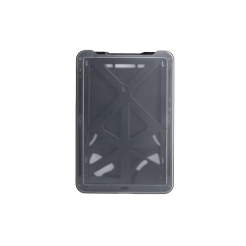 B-Holder Black 3-Card Rigid Plastic Vertical ID Badge Holder - 50pk (1840-6661), Id Supplies Image 1