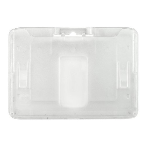 B-Holder Clear 1-Card Rigid Plastic Horizontal ID Badge Holder - 50pk (1840-6650) Image 1