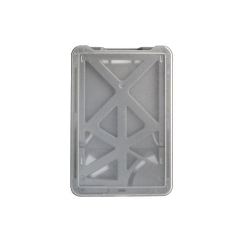 B-Holder Metallic Gray 3-Card Rigid Plastic Vertical ID Badge Holder - 50pk (1840-6667), Id Supplies Image 1