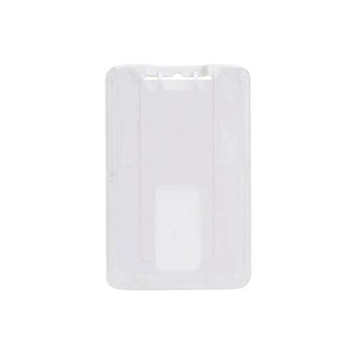 B-Holder White 1-Card Rigid Plastic Vertical ID Badge Holder - 50pk (1840-6648) Image 1