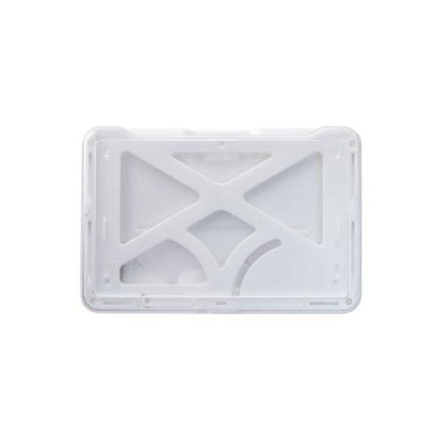 B-Holder White 3-Card Rigid Plastic Horizontal ID Badge Holder - 50pk (1840-6678), Id Supplies Image 1