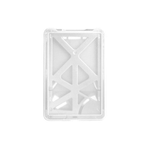 B-Holder White 3-Card Rigid Plastic Vertical ID Badge Holder - 50pk (1840-6668), Id Supplies Image 1