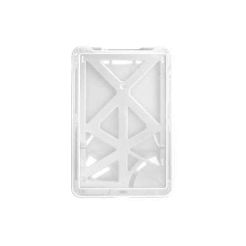 B-Holder White 3-Card Rigid Plastic Vertical ID Badge Holder - 50pk (1840-6668) Image 1