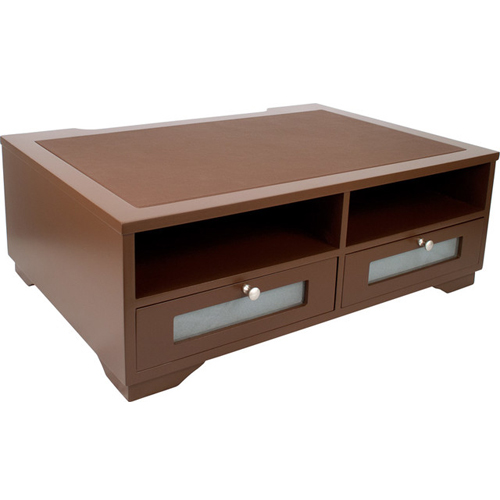 Victor Technology Printer Stand with Shelves and Drawers (Mocha Brown) (B1130) Image 1