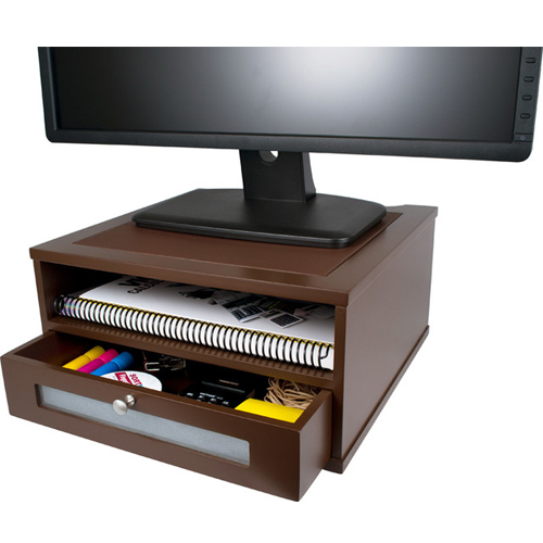 Monitor Riser with Shelf and Drawer Image 1