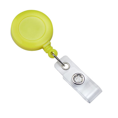Neon Yellow Badge Reel With Clear Vinyl Strap And Belt Clip - 25pk (2120-3083), MyBinding brand Image 1
