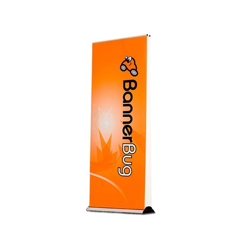 "Drytac Banner Bug 39.375"" x 85.375"" Retractable Banner Stand - Silver (Double-Sided) (DU0100) Image 1"