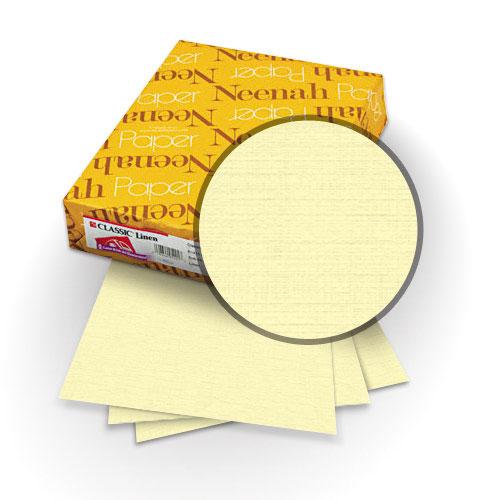 "Neenah Paper Baronial Ivory 80lb 8.5"" x 14"" Classic Linen Cover - 25pk (MYCLIN8.5X14BI) Image 1"