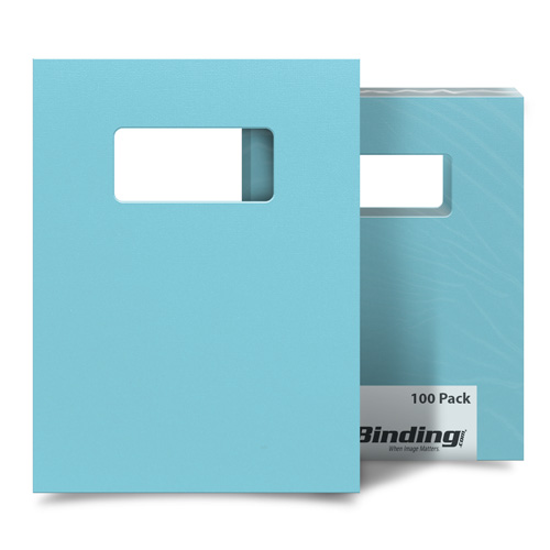"Beautiful Blueberry 8.5"" x 11"" Card Stock Covers with Windows - 100 Sets (MYCS8.5X11BBW) Image 1"