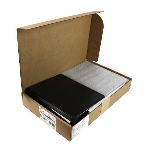 "Black 1/2"" Standard Thermal Hard Cover Cases - Box of 8 (BITHC120BK) Image 1"