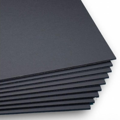 "Black 3/16"" Foam Core 20"" x 30"" Mounting Boards - 10pk (550450)"