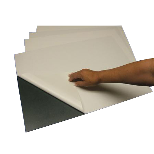 "Black 3/16"" Foam Core Permanent Adhesive 36"" x 48"" Mounting Boards - 25pk (550460B) - $540.43 Image 1"