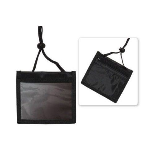 Black 3-Pocket Nylon Credential Holder - 25pk (1860-2601) Image 1