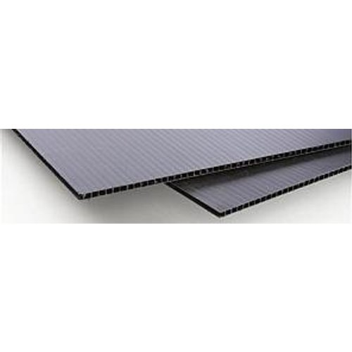 "Black 4mm Corrugated Plastic Mounting Board 12"" x 18"" - 10pk (CB1218) - $40.37 Image 1"