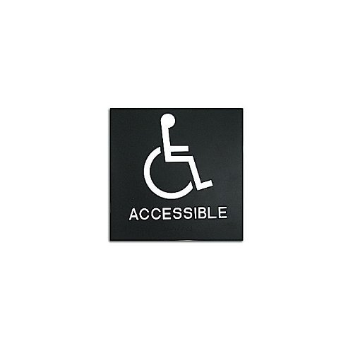 "Black 8"" x 8"" Handicap Accessible ADA Sign (97PPE41010001) - $11.19 Image 1"