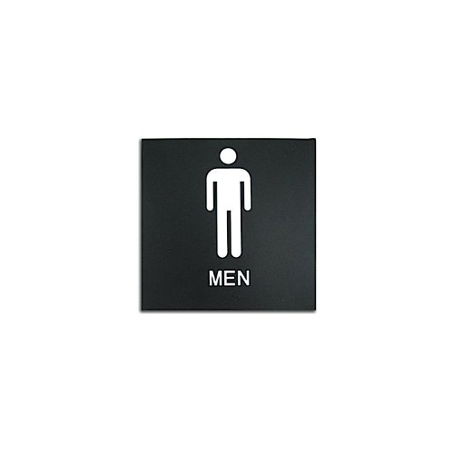 "Black 8"" x 8"" Men Restroom ADA Sign (97PPE41010002) - $11.19 Image 1"