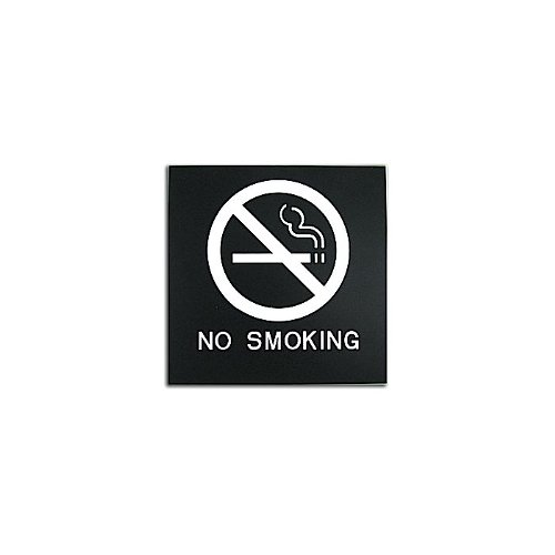 "Black 8"" x 8"" No Smoking ADA Sign (97PPE41010004) - $11.19 Image 1"