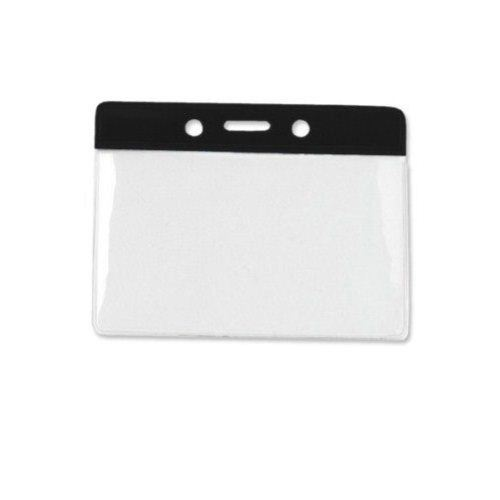Black Vinyl Badge Holder Image 1