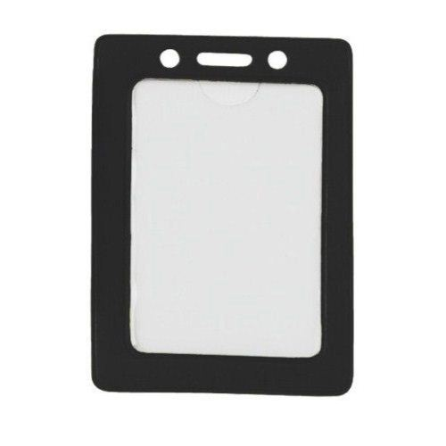 Black Credit Card Size Vertical Colored Frame Badge Holders - 100pk (1820-3001) Image 1