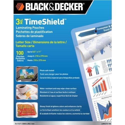 Black & Decker TimeShield 3 Mil Letter Size Laminating Pouches (LAMLET3) Image 1