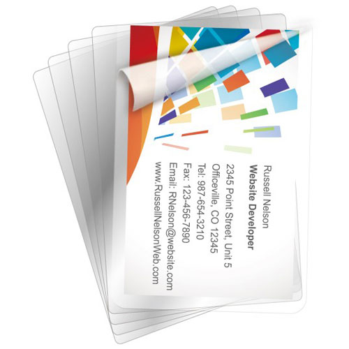 Card Size Laminating Pouches 5 Mil Image 1