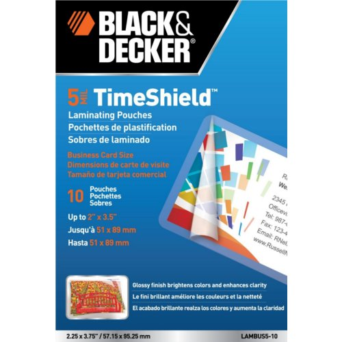 Timeshield Business Card Size Laminating Pouches