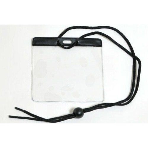 Black Extra Large Color Bar Badge Holders with Neck Cords - 100pk (1860-2901) Image 1